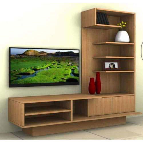 Living Room Cabinet Design In India: Brown L Shaped TV Cabinet, Rs 550 /square Feet, SK