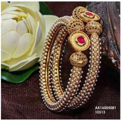 Engagement And Party Golden Ladies Designer Bangle Set