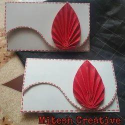 Rectangular Fancy Shagun Handmade Paper Envelopes (Leaf)