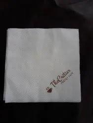 KsSoft White Printed Tissue 30x30 cms, For Restaurant, 16