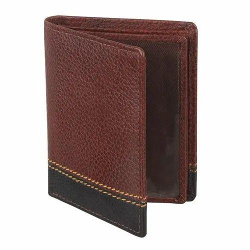 Manufactus Black Luxury Leather Passport ID Holder  Italy New