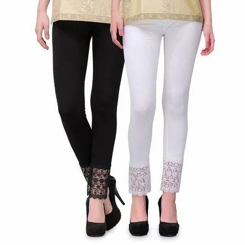 00f514410d547c Straight Fit Plain Ladies Stylish Leggings, Size: Small, Rs 150 ...