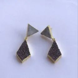 Sugar Druzy Earrings Manufacturer