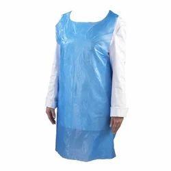 Blue Plain Disposable Plastic Apron