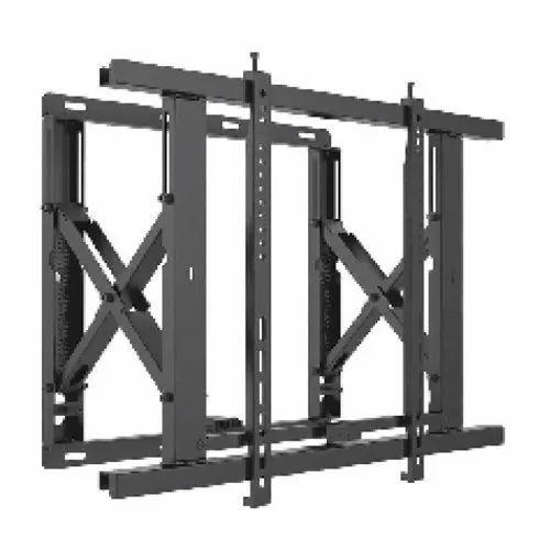 Mild Steel Black Adjustable TV Video Wall Mount, LED TV