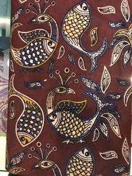 Printed Assorted Kalamkari Prints Cotton Fabric, Use: Dress