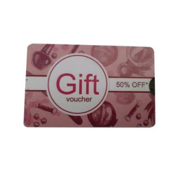 Rectangular PVC Gift Card, Packaging Type: Packet
