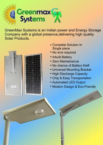 Solar Integrated Street Light