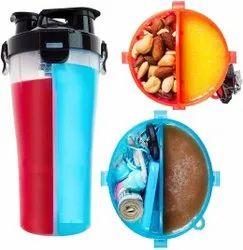 2 In 1 Dual Threat Shaker Juicer & Water Bottle Leak Proof (700 Ml_Black)