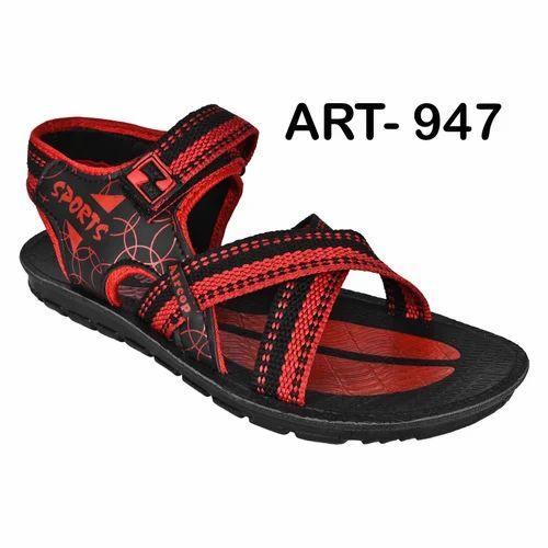 6b35fa16f0f74 Sporter Men Red Canvas Sandals 947