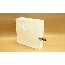 9x14x2 White Paper Bag