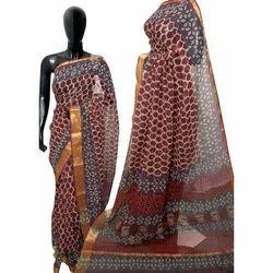 Ladies Cotton Printed Saree, Length: 6.3 m