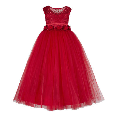 Party Wear Red Tutu Gowns For Kids