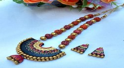 Lime Gold SRIVARI Divine Rudra Jewellery Necklace
