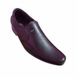 Black Formal Wear Men Synthetic Leather Shoes, Size: 6 - 10 Uk