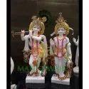 Radha Krishna White Moorti