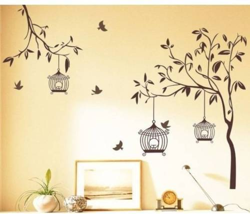 brown wall sticker, size/dimension: 60*90 cm, pack size: small, rs
