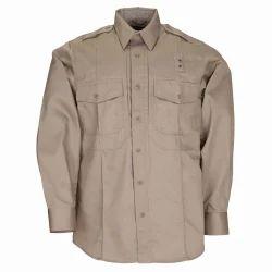 Plain Collar Neck Poly Cotton Corporate Shirt