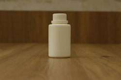 White Tablet Storage Plastic Bottle