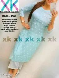 Cotton Embroidered Womens Wear