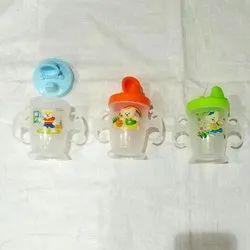 Green, Orange And Blue Baby Feeding Bottle