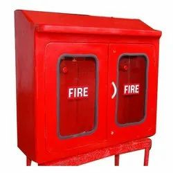 Mild Steel DOUBLE DOOR HOSE BOX, For Fire Safety
