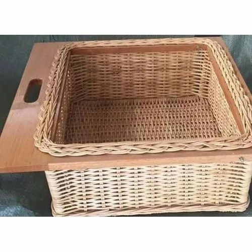 Wooden Kitchen Wicker Basket