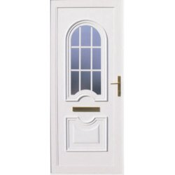 Toughened Glass U-7 UPVC Door, 6-8 Mm