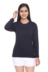 Women Cotton Casual Wear Full Sleeves Top, Size: S to XXL