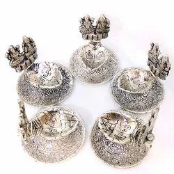 Metal Beautiful Shell Ganesha