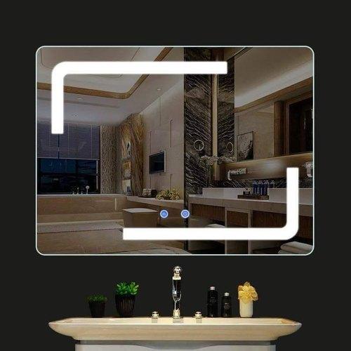 Reactangle Wall Mounted Led Bathroom Mirror With Bluetooth Defogger And Phone Connectivity At Rs 18900 Piece Led Mirror Id 21677202512