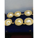 Silver & Gold Plated Mix 6 Bowls & Spoon Set