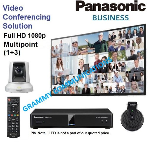 Panasonic Video Conferencing System : Multipoint 4-Sites Connection with 3x Optical Zoom