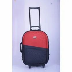 Red and Black Polyester Travel Trolley Suitcase, Number Of Wheel: 2