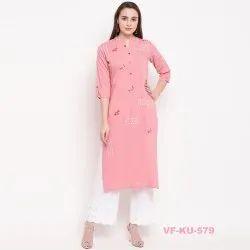 Vaikunth Fabrics Rayon Embroidered Kurti