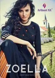 Arihant Zoella Cotton Silk Kurti With Pant Catalog Collection