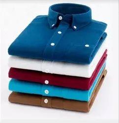 Carlo Plain Men Daily Wear Shirt, Size: S