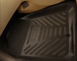 Digifit-Car FloorMats-Black And Tan Color-Honda Brio