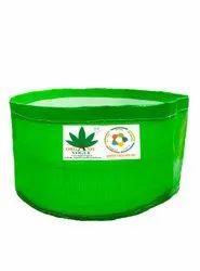 Organic Vogue 350 Gsm Green White Round Hdpe Grow Bag