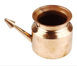 Plain Copper Naiti Pot, For Worship, Capacity: 200ml