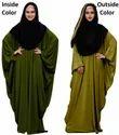 Plain 2 Wearable Style Arabic Abaya Burkha With Dupatta