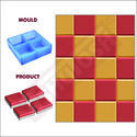 Square Moulds- 100 X 100 - 606b - Sand (4Pcs in 1 Mould)