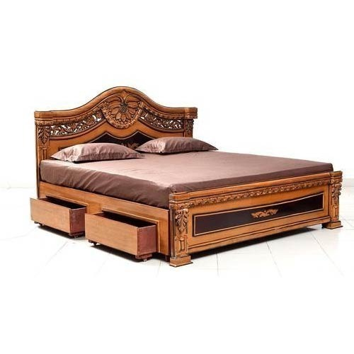 Teak Wood Wooden Queen Size Bed Rs 40000 Piece Icon Conveyors