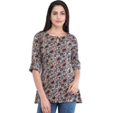 Cottinfab Women's Casual Printed Top