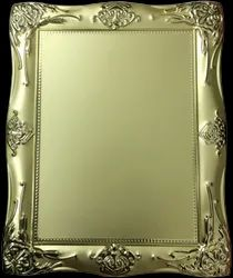 Golden and Silver Brass & Steel ESS-806 Metal Carbiza Photo Frame, Size: 13 X 16.6 Cms
