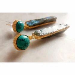 Rough Gemstone Earring
