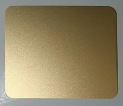 Gold Beadblast Stainless Steel Sheet