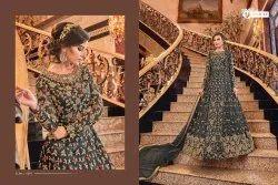 Semi-Stitched Glamorous Bridal Anarkali Suit, Dry clean