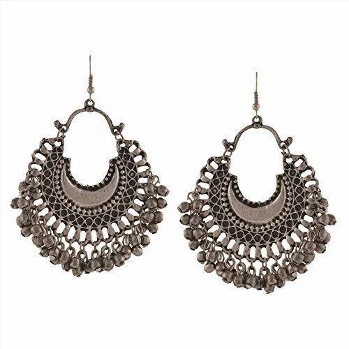 bf48289dd Fashion Stylish Oxidised Afghani Tribal Fancy Party Wear Earrings for Girls  and Women