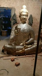 Brass Buddha Statue 7 ft